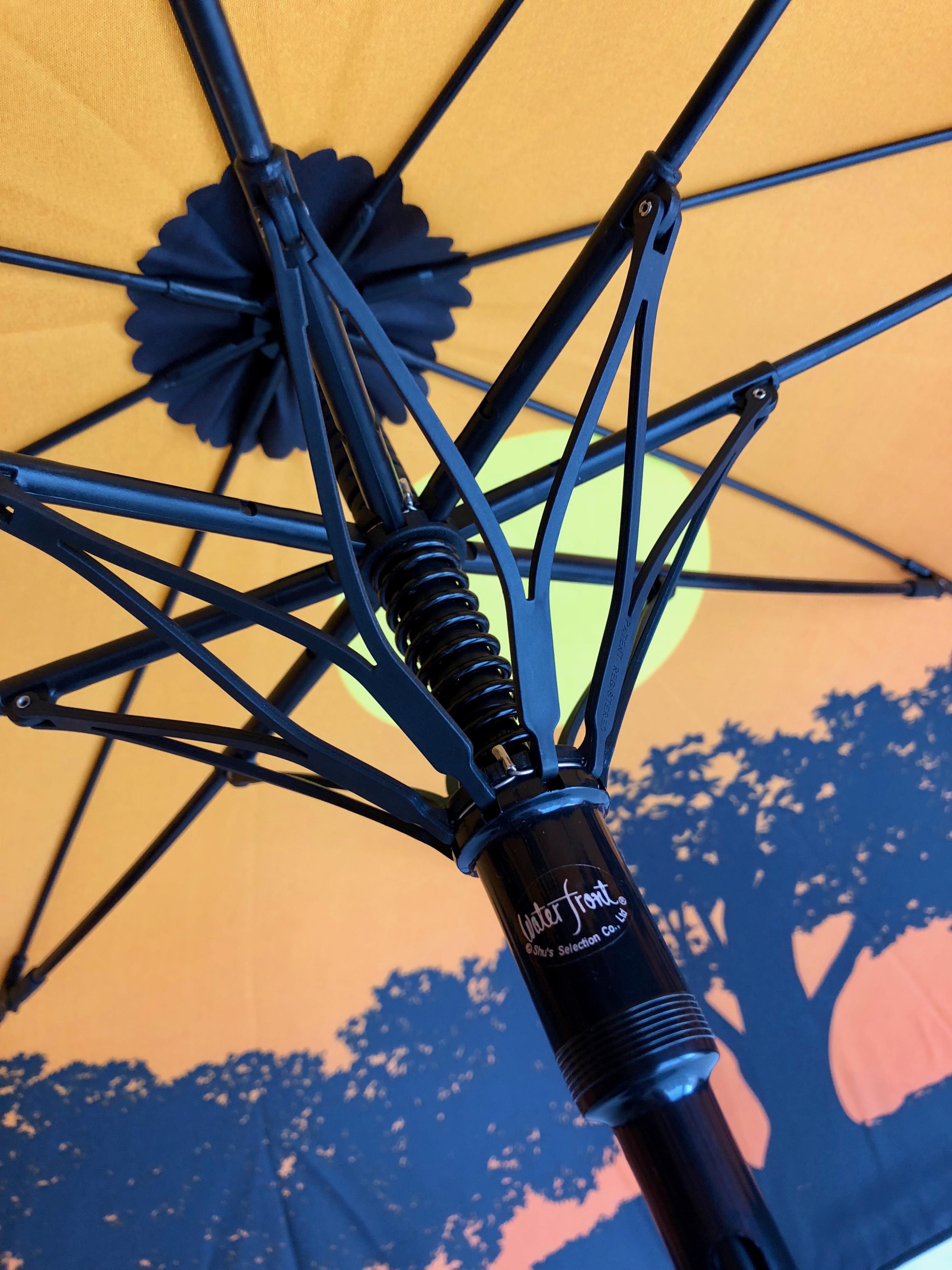 ウォーターフロントの傘