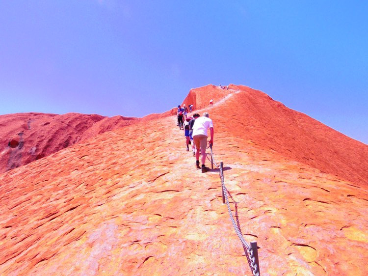 オーストラリア,エアーズロック,一人旅,ウルル,登山,最終日,ハート
