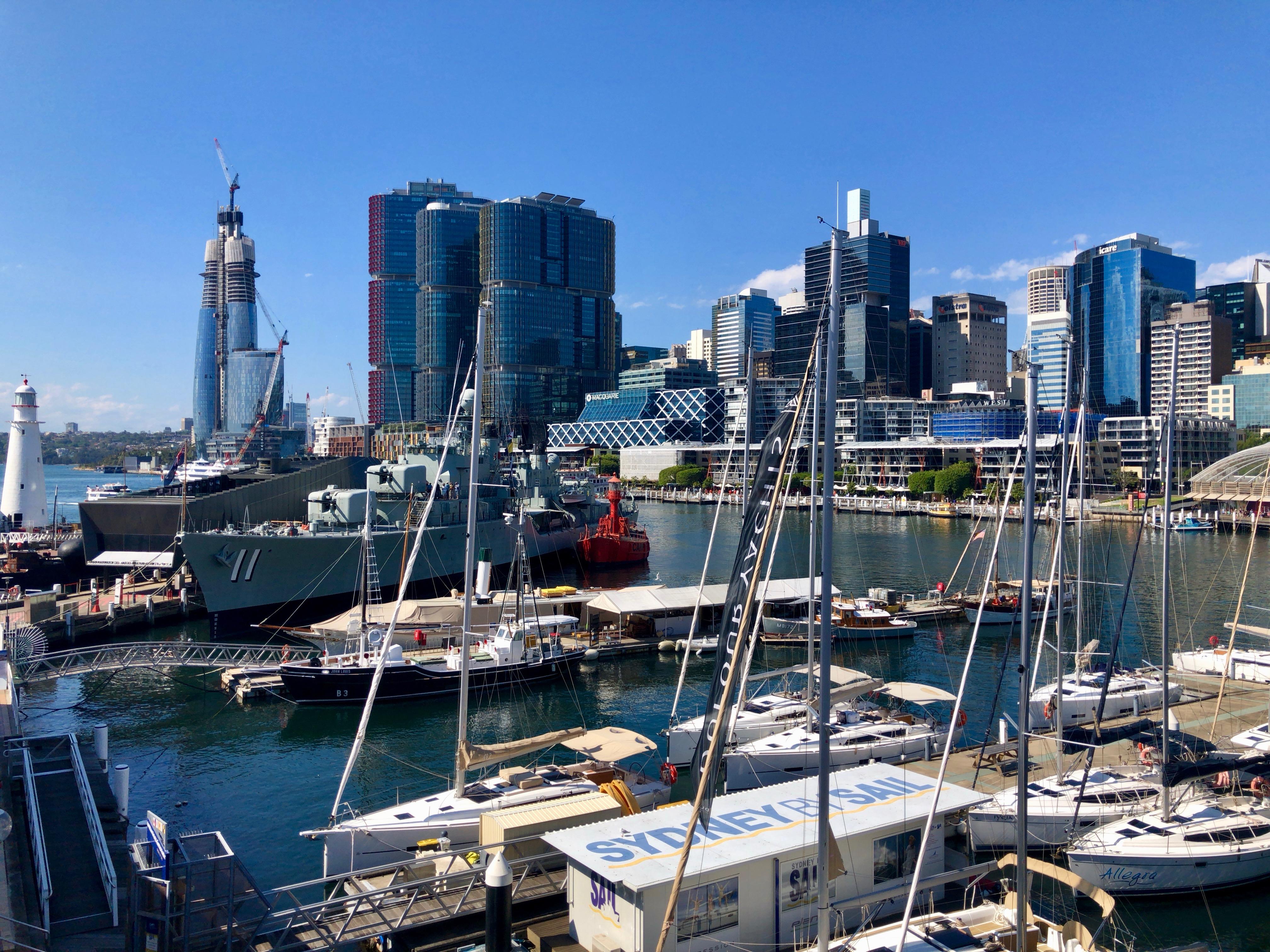 オーストラリア,シドニー,ダーリングハーバー,カフェ,おしゃれ,港